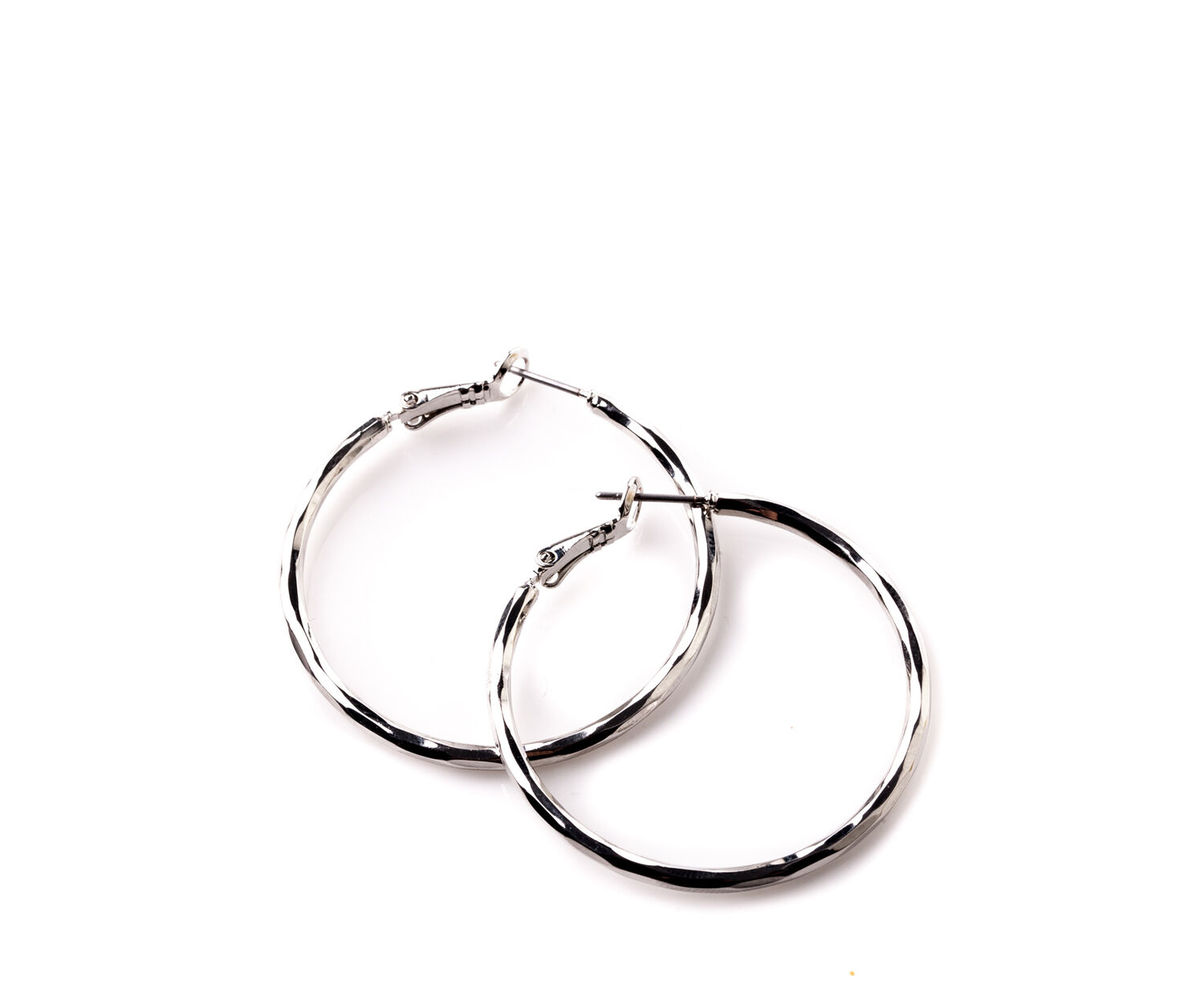 Oasis, BASIC SILVER TONE HOOPS Silver 1