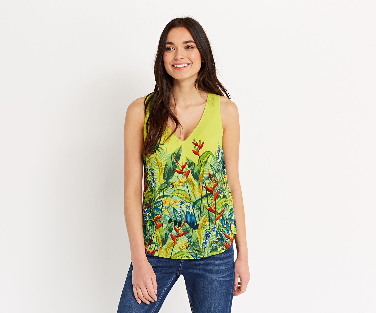 Oasis, TROPICAL BORDER V VEST Mid Yellow 1