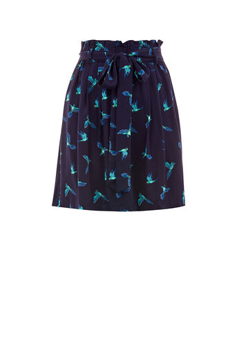 Oasis, ZSL PARROT SKIRT Multi Blue 0