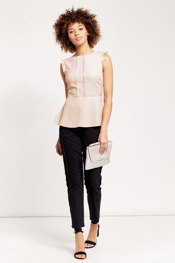 Oasis, PEPLUM TOP Off White 2