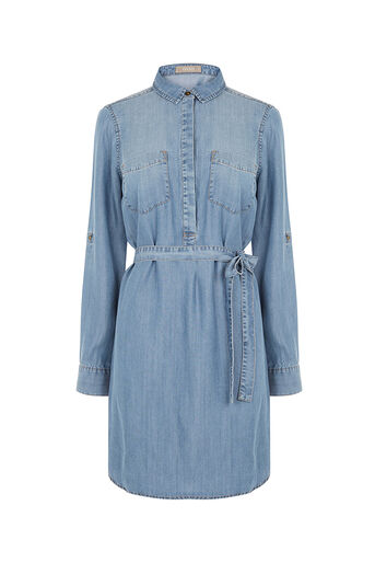 Oasis, LIBBY SHIRT DRESS Denim 0