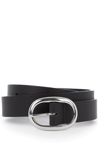 Oasis, OVAL BUCKLE BELT Black 0