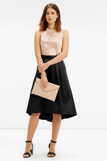 Oasis, PETITE SATIN SKIRT Black 2