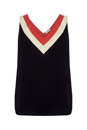 Oasis, Colour Block Vest Multi 0