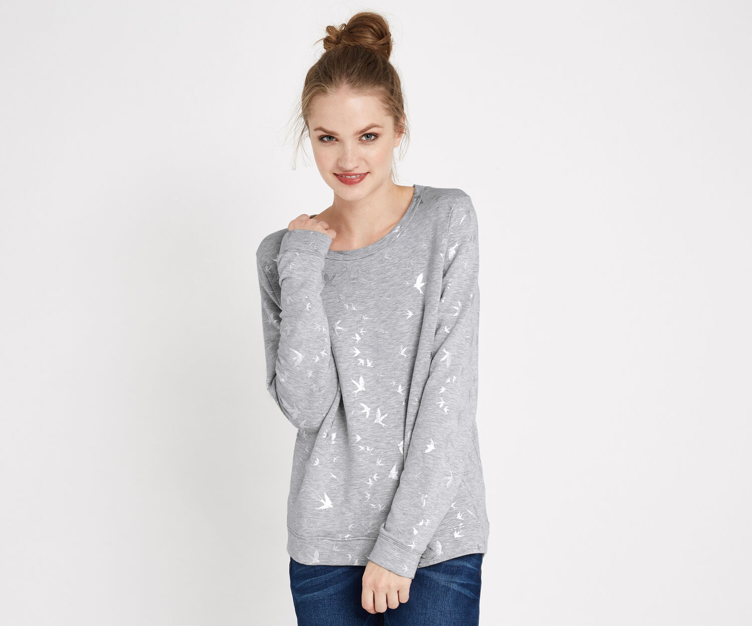 Oasis, SHIMMER SWALLOW SWEATER Multi Gold 1