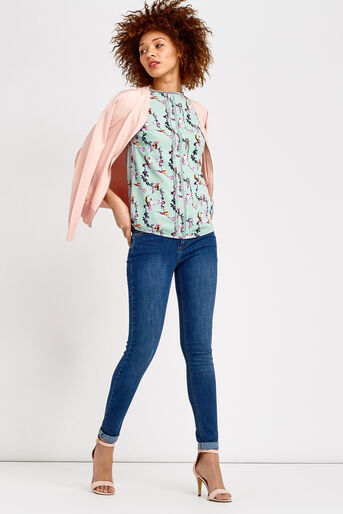 Oasis, LOTUS BIRD TOP Multi Blue 2