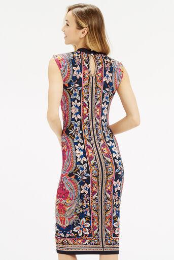 Oasis, Paisley Tube Dress Multi 3