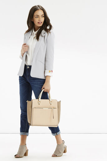 Oasis, Tailored Textured Jacket Pale Grey 2