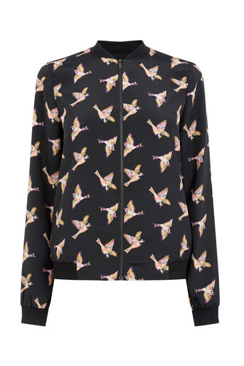 Oasis, BIRD PRINT JACKET Multi 0