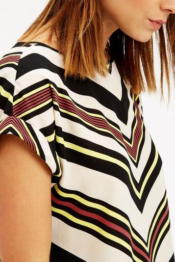 Oasis, Chevron Stripe T-Shirt Multi 4