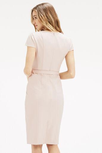 Oasis, Bonnie Workwear Dress Mid Neutral 3