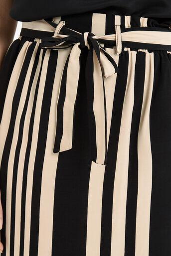 Oasis, Paperbag Stripe Skirt Multi Black 4