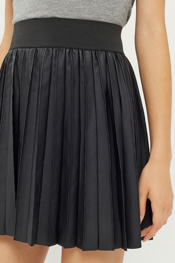 Oasis, PLEATED FAUX LEATHER SKIRT Black 4