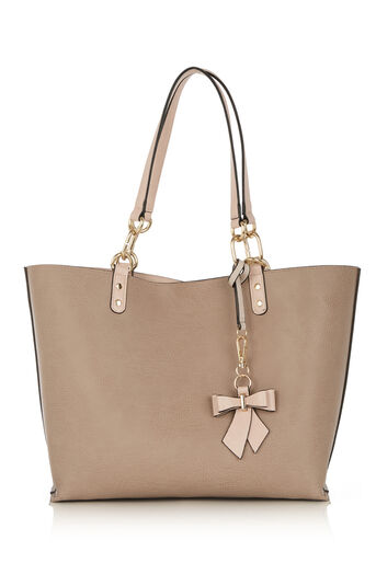 Oasis, REVERSIBLE BOW SHOPPER Mid Grey 0