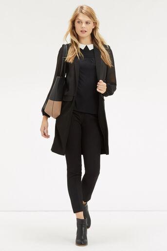 Oasis, Pintuck Shoulder Blouse Black 2