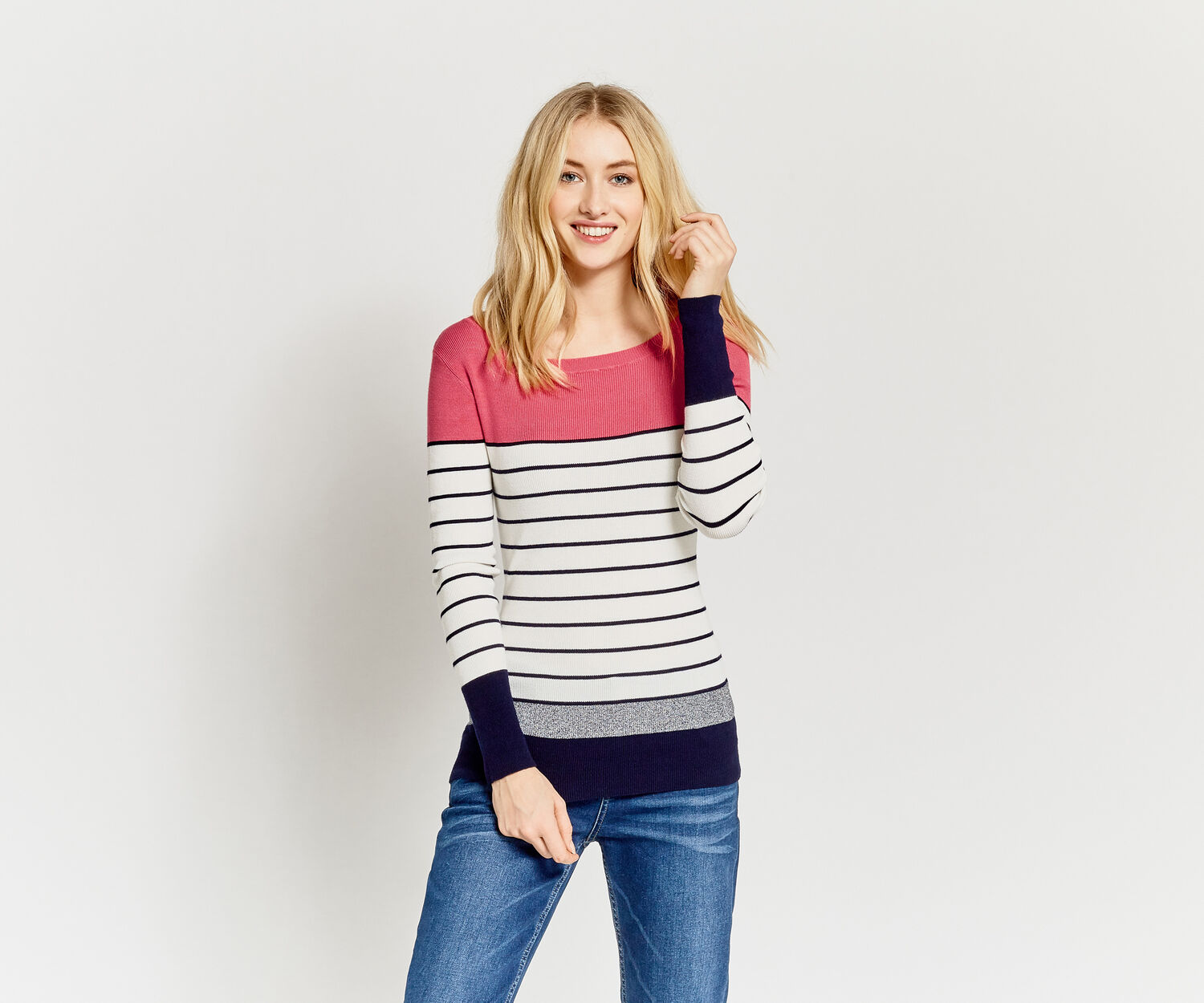 Oasis, Essential Striped Knit Multi 1