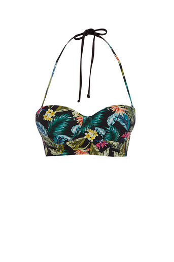Oasis, Miami tropical bikini top Black 0