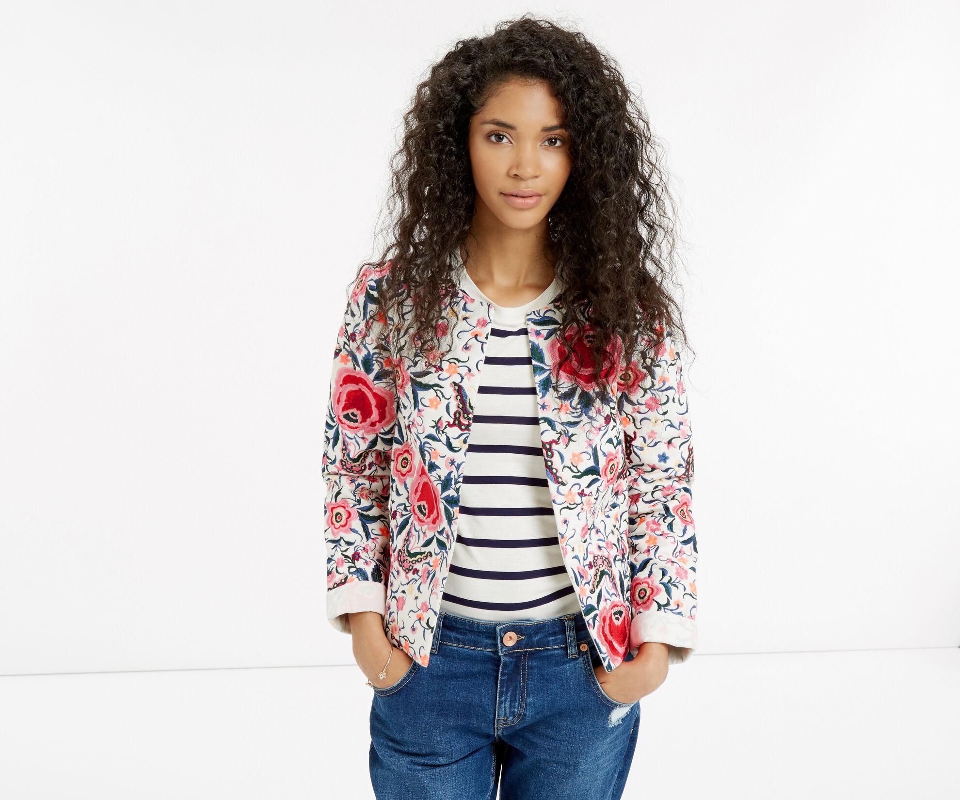 Oasis, Embroidered Cuba Floral Jacket Multi 1