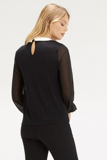Oasis, Pintuck Shoulder Blouse Black 3