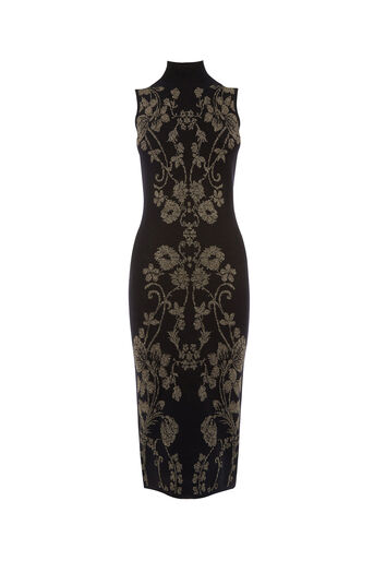 Oasis, WARNER SPARKLE KNIT DRESS Black 0