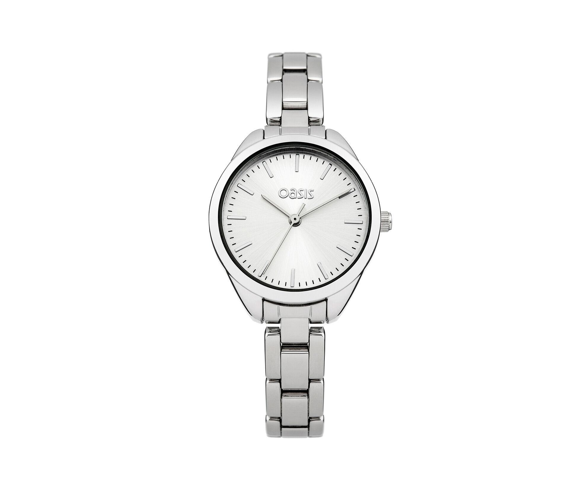 Oasis, Silver Tone Bracelet Watch Silver 0
