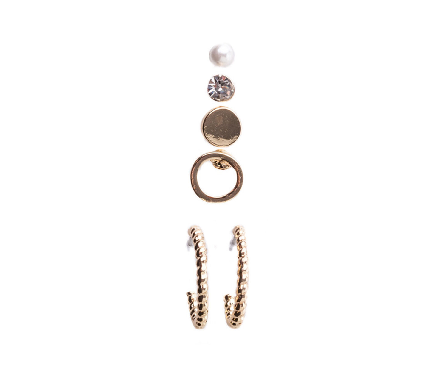 Oasis, 6 PIECE EARRING SET Gold 1