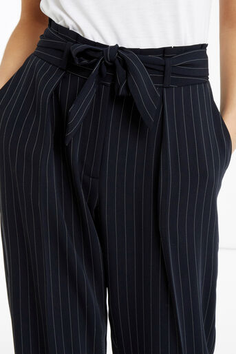 Oasis, Stripe Peg Trouser Multi Blue 4