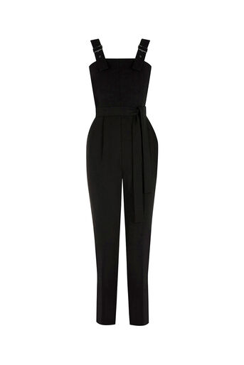 Oasis, BUCKLE JUMPSUIT Black 0