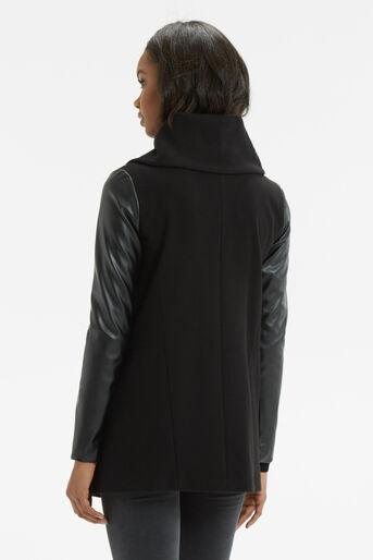 Oasis, Cara Drape Coat Black 3