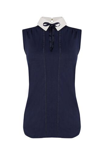 Oasis, Collar T-Shirt Navy 0