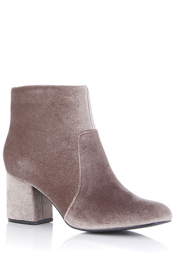 Oasis, VELVET KITTY BOOTS Pale Grey 0