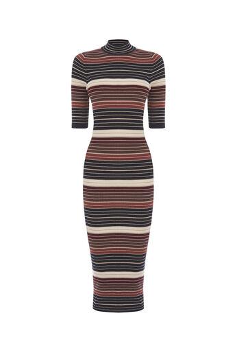 Oasis, Stripe sparkle midi dress Multi 0