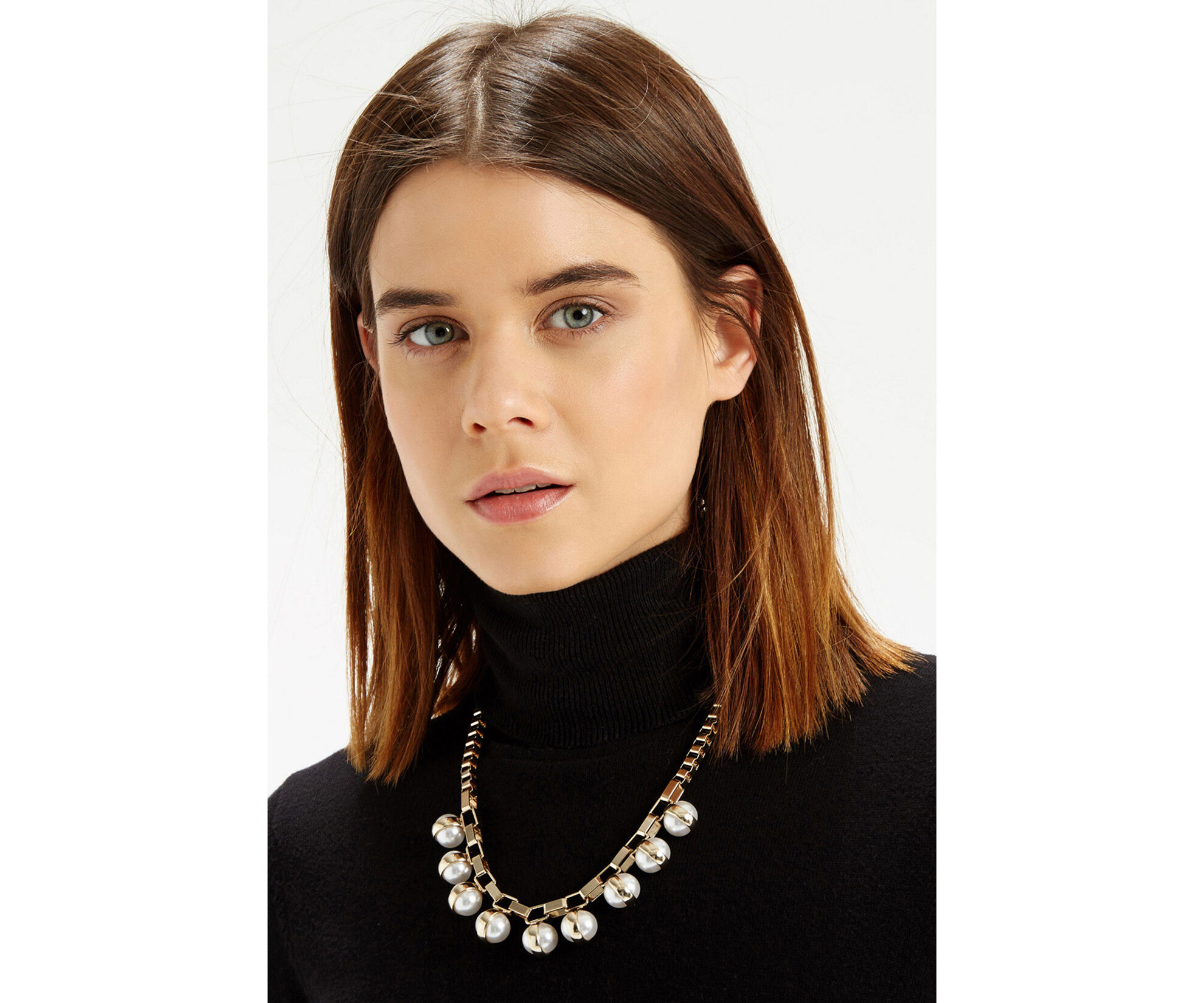 Oasis, Pearl Chunky Necklace Cream 1