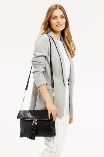 Oasis, LEATHER FREDA SATCHEL Black 1