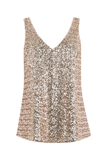 Oasis, SEQUIN VEST Light Neutral 0