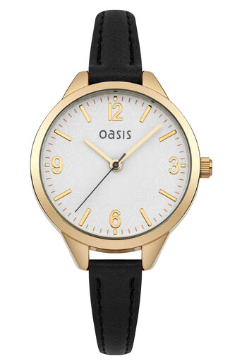 Oasis, Simple Strap Watch Black 0