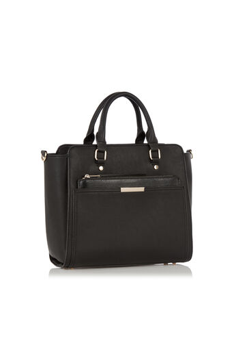 Oasis, Scarlett Work Bag with Clutch Black 2