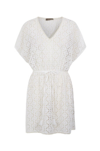 Oasis, LACE KAFTAN Off White 0