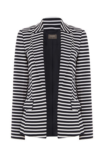 Oasis, STRIPE PONTE JACKET Multi 0