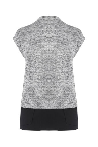 Oasis, SLEEVELESS HIGH NECK TOP Mid Grey 0