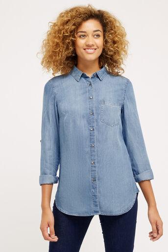 Oasis, One pocket shirt Denim 1