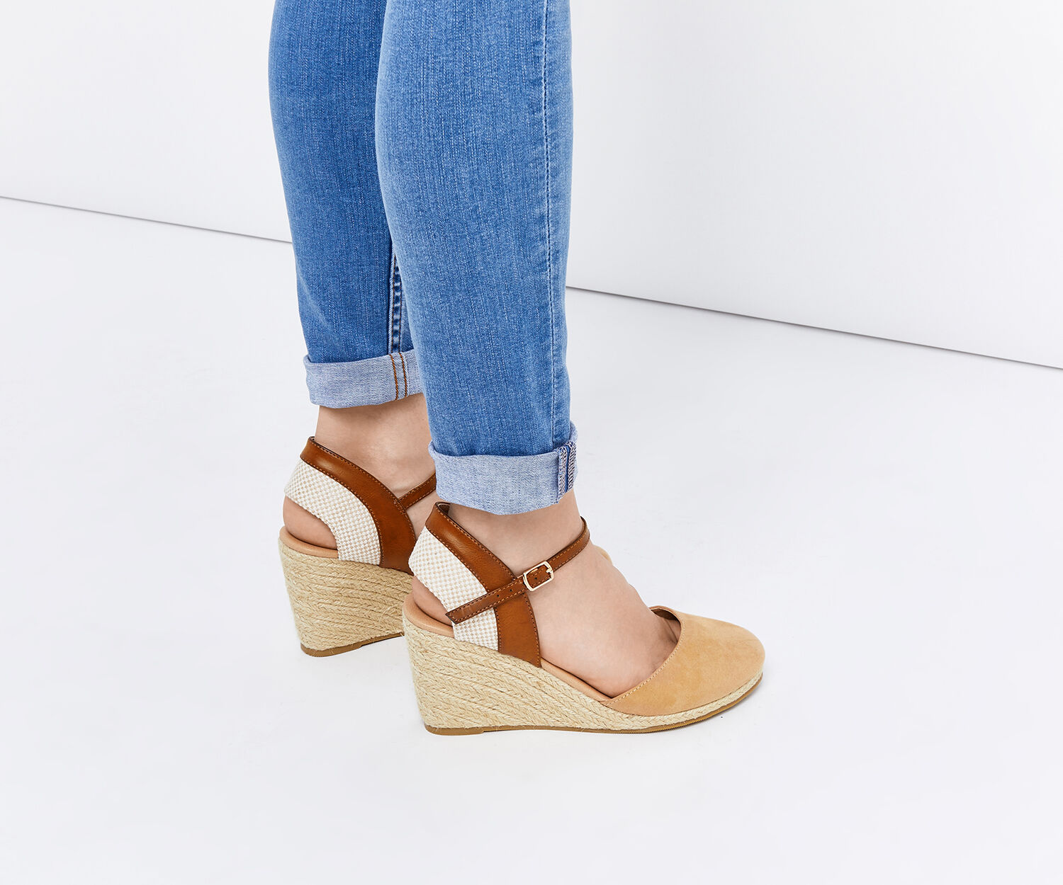 Oasis, AIMEE WEDGE HEEL Multi Brown 1