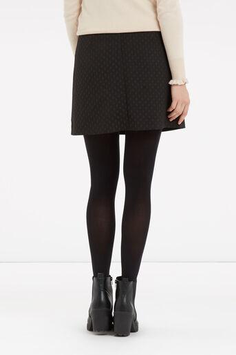 Oasis, 60s Button A-Line Skirt Black 3