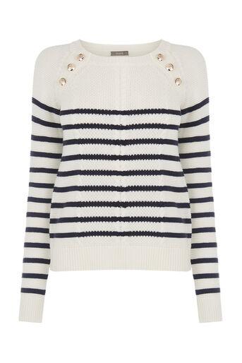 Oasis, Stripe cable knit Multi Blue 0