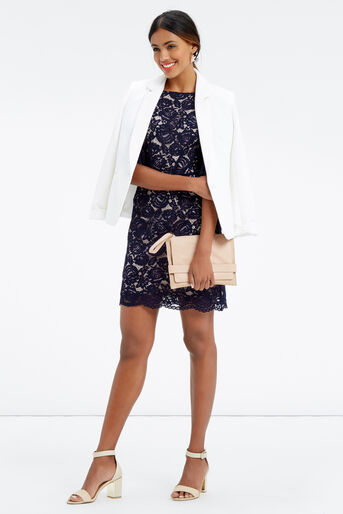 Oasis, LACE BELL SLEEVE SHIFT Navy 2