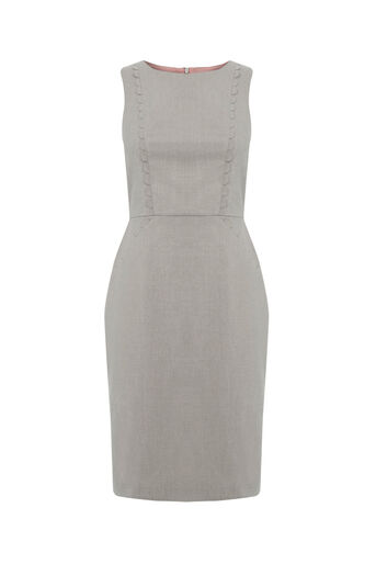 Oasis, CLARA WORKWEAR DRESS Mid Grey 0