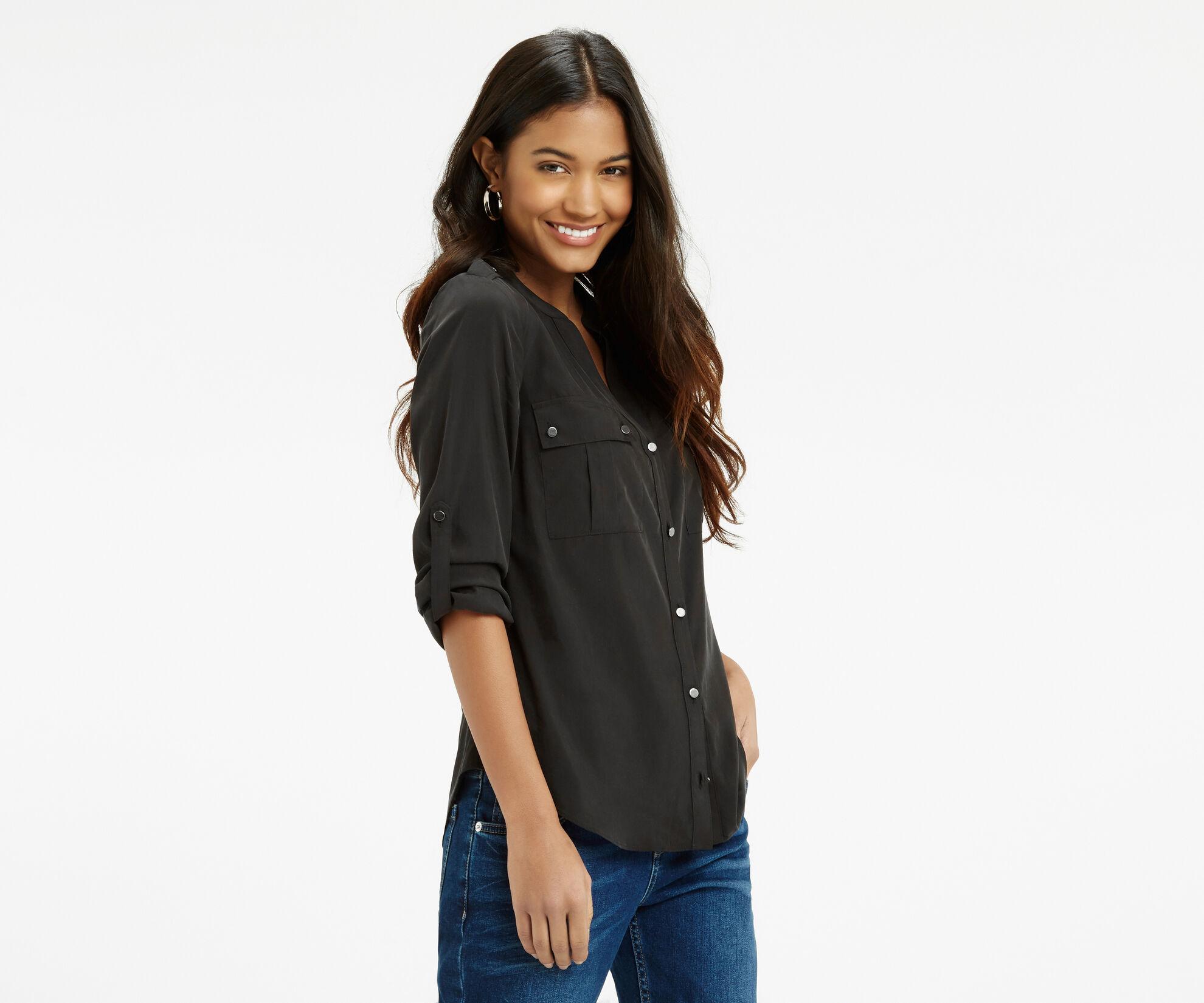 Oasis, Tencel Shirt Black 1
