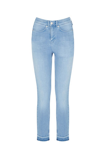 Oasis, HEM DETAIL LILY JEANS Light Wash 0