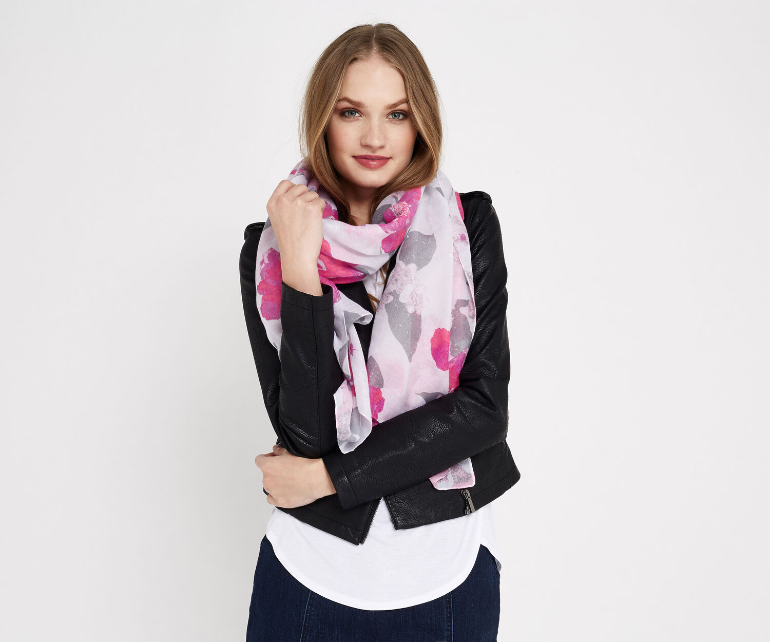 Oasis, NEO FLORAL PRINT SCARF Multi 1