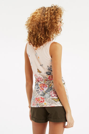 Oasis, Botanical Placement Vest Off White 3